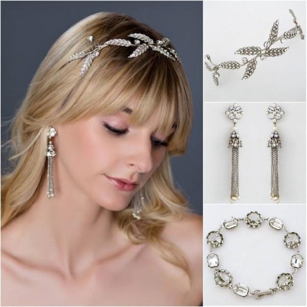 Our favorite model, Danielle Wood wearing Paris by Debra Moreland jewelry & headband.