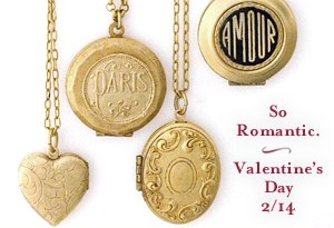 Catherine Popesco Gold Lockets