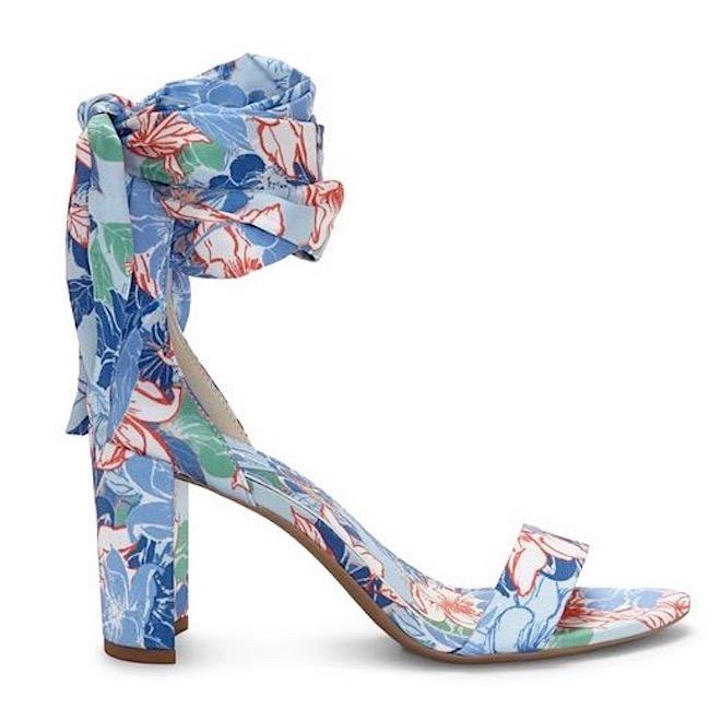jessica simpson blue floral block heels