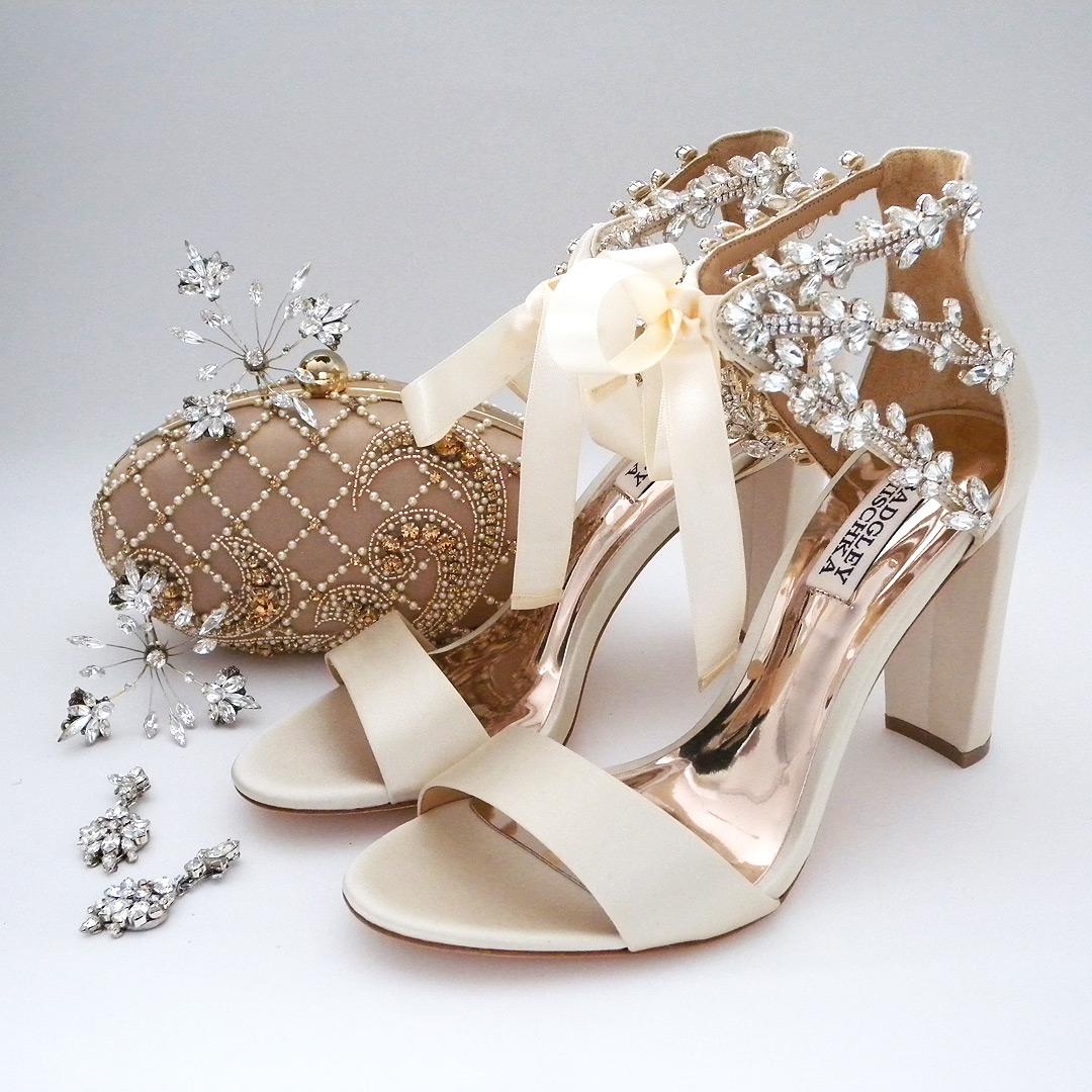 Badgley mischka everafter block heel wedding shoes