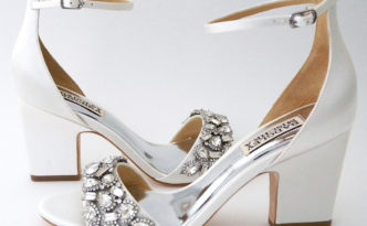 block heel wedding shoe