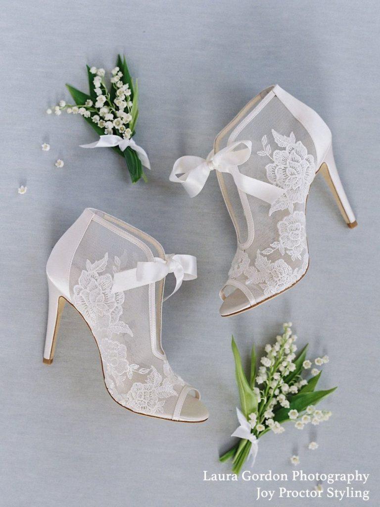 Bella Belle Nikki lace wedding bootie