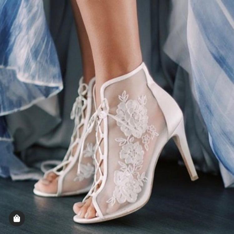 vintage lace wedding bootie