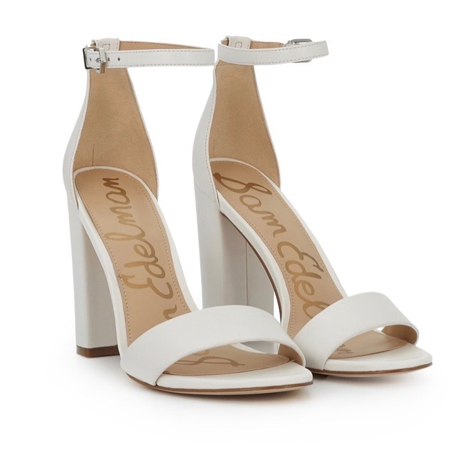 white block heel sandals, sam edleman