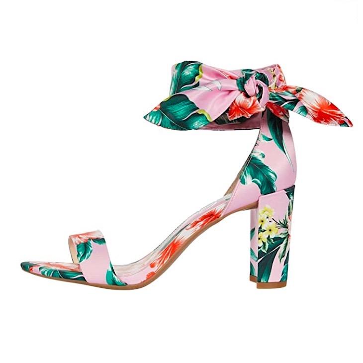 jessica simpson pink floral block heels