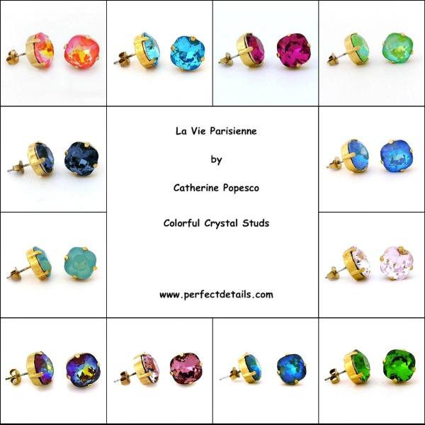 Catherine Popesco crystal stud earrings.