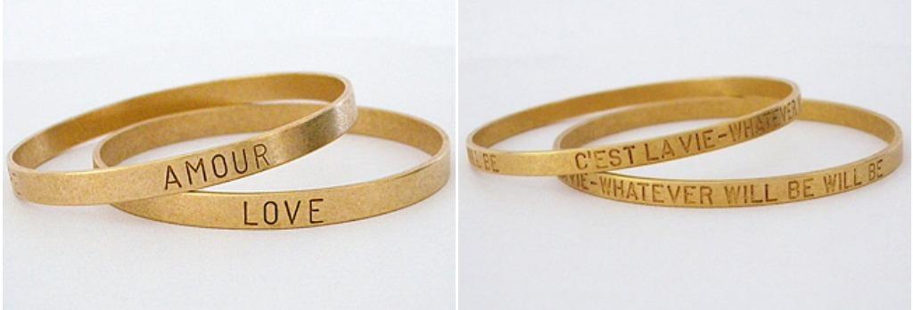 Catherine Popesco Vintage Gold Bangles