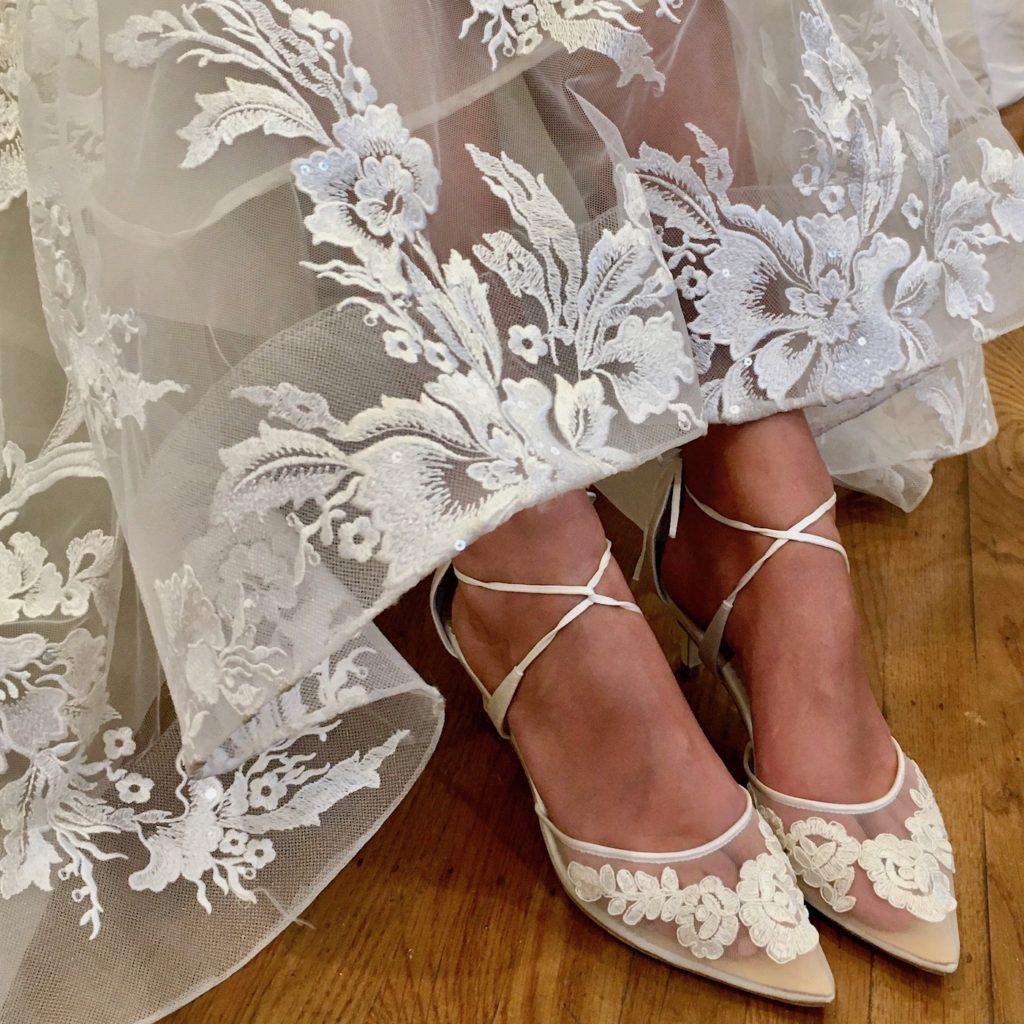 bella belle Amelia low heel wedding shoes