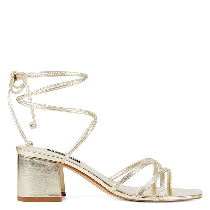 goldblock heel sandal nine west