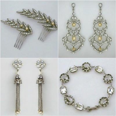 Paris by Debra Moreland, bridal jewelry, hair accessories