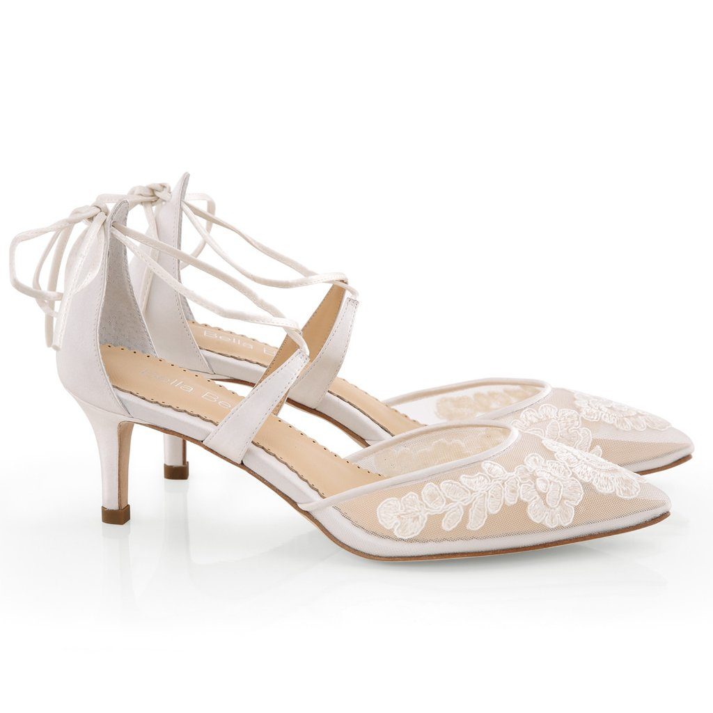 Bella Belle Amelia Wedding Shoes Ivory Lace Bridal Shoes