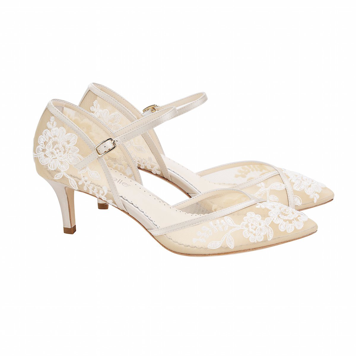 41959c591 Bella Belle Candice Lace Wedding Shoes | Bridal Shoes, Kitten Heel