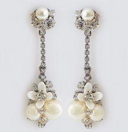 df7be0f301316 Vintage Bridal Earrings | Art Deco Wedding Earrings, Vintage