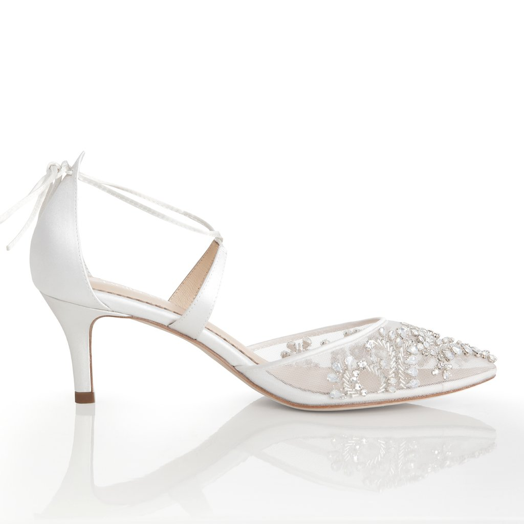 Pink Satin Shoes Wedding