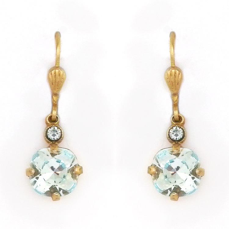 9948fa82d1cdd Ice Blue Crystal Drop Earrings, 8mm