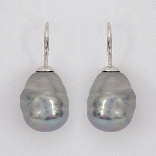 c5e89b34e1780 Grey Baroque Pearl Earrings