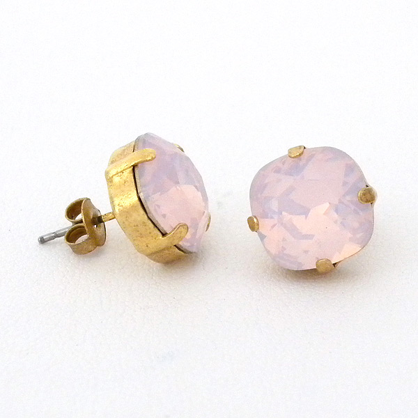 Rose Water Crystal Studs