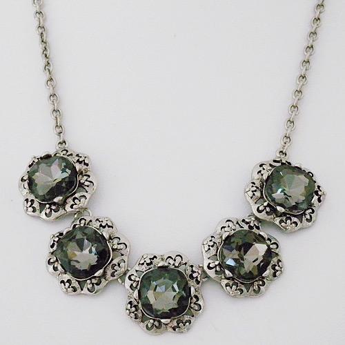 Vintage Black Diamond Crystal Necklace SALE!!  sc 1 st  Perfect Details & Costume Jewelry | Vintage Black Diamond Crystal Necklace