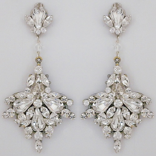 Erin cole bridal earrings large fan drop chandelier earrings large fan drop bridal chandelier earrings aloadofball Image collections