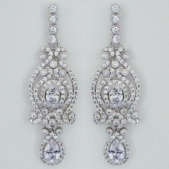 Vintage Bridal Chandelier Earrings with Teardrop SALE!!
