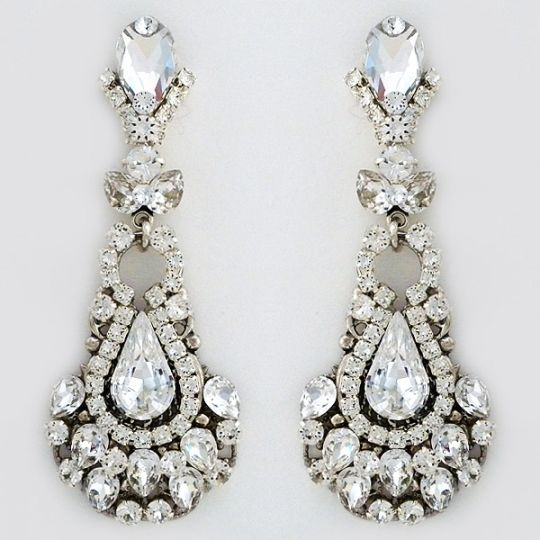 Erin Cole Bridal jewelry | Heirloom Bridal Chandelier Earrings