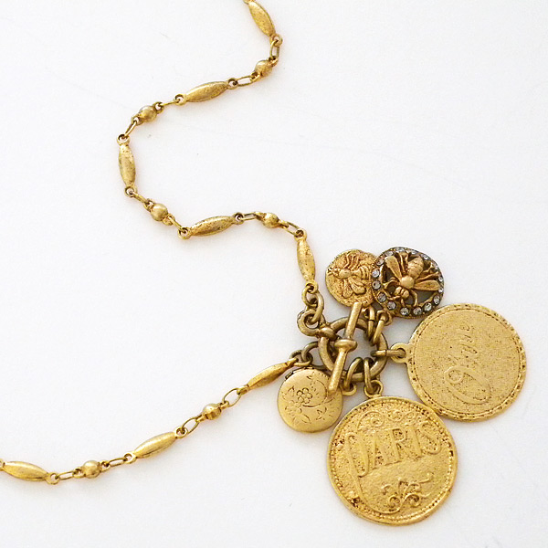 dutch chain shop coin charm trace tilly gold necklace necklaces on jewellery category large sveaas