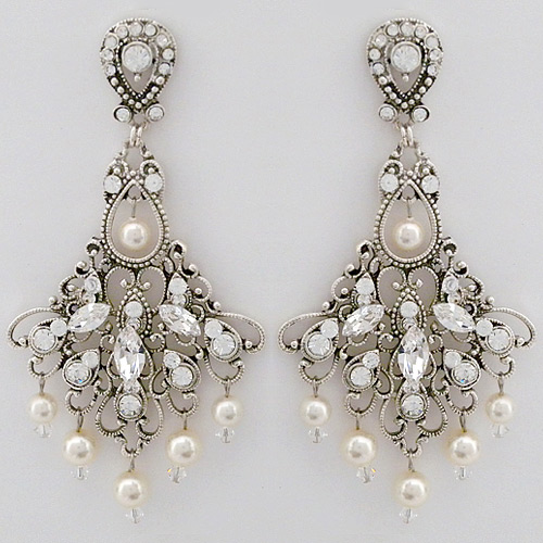 Laura jayne bridal earrings vintage wedding chandelier earrings antique wedding chandelier earrings aloadofball Images