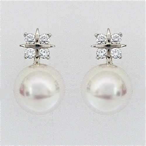 Pearl Studs With Sparkle