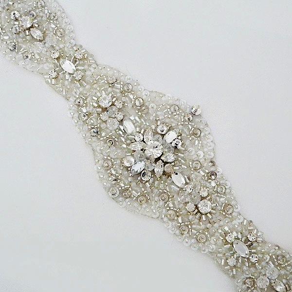 Sparkling Ovals Bridal Belt Size 8