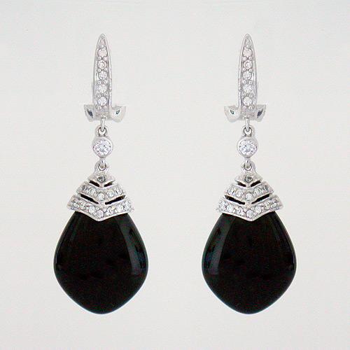 Black Stone Fashion Earrings