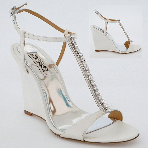 feeling comfortable with your wedge wedding shoes
