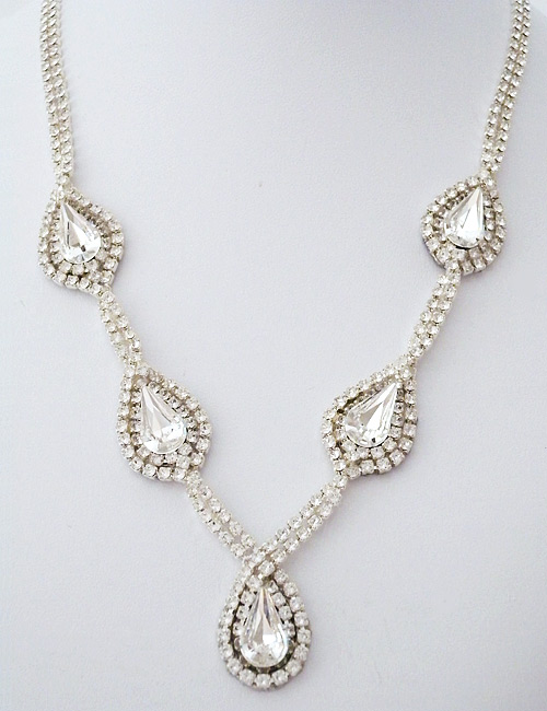 Erin cole bridal jewelry multi teardrop crystal necklace multi teardrop crystal necklace sale aloadofball Image collections