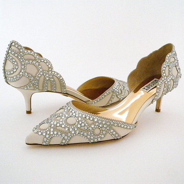 Ivory Low Heel Wedding Shoes
