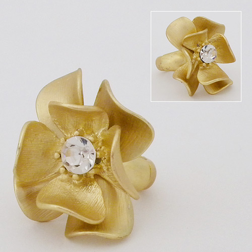 Ring With Flower Design | Cocktail Rings Flower Ring Gold Destination Weddings