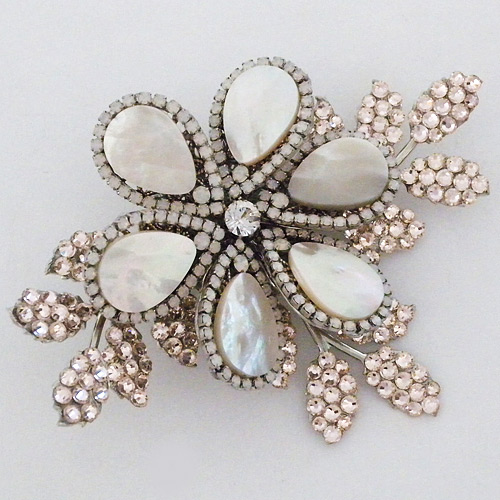 Mother Of Pearl Flower Hair Clip