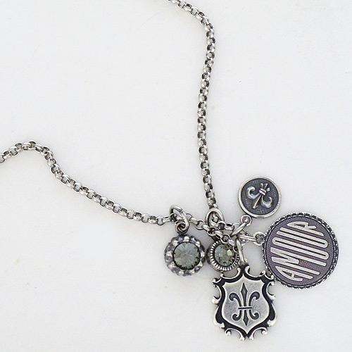 La vie parisienne jewelry amour fleur de lis pendant necklace amour fleur de lis pendant necklace aloadofball Choice Image