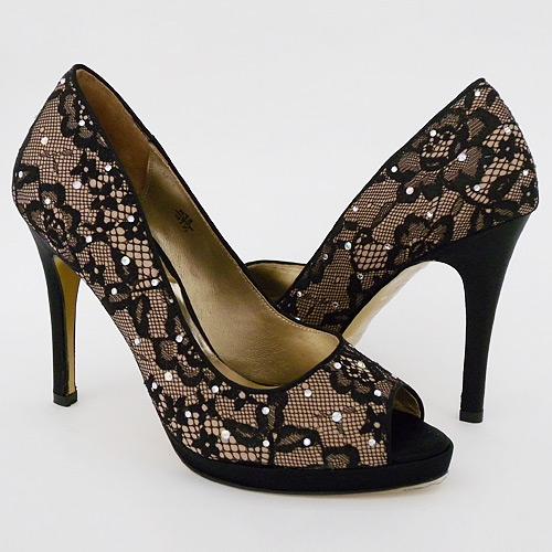 benjamin black lace evening shoes designer