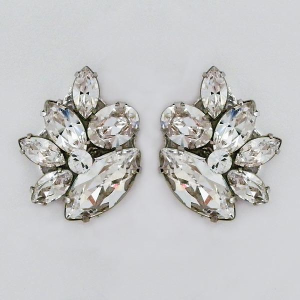 Crystal Cer Bridal Post Earrings