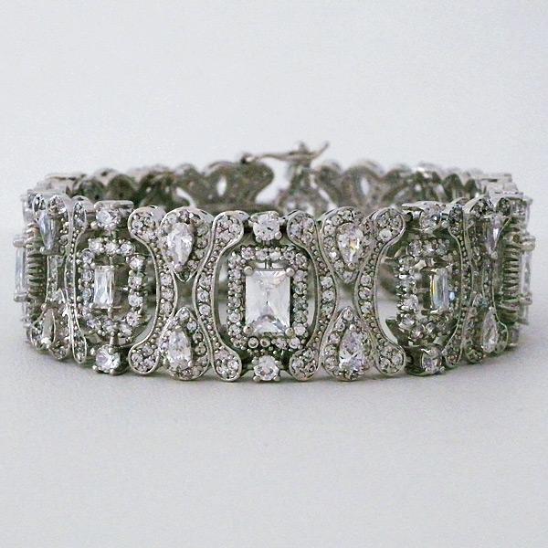 CZ Bridal Jewelry by Jascott CZ Vintage Bridal Bracelet