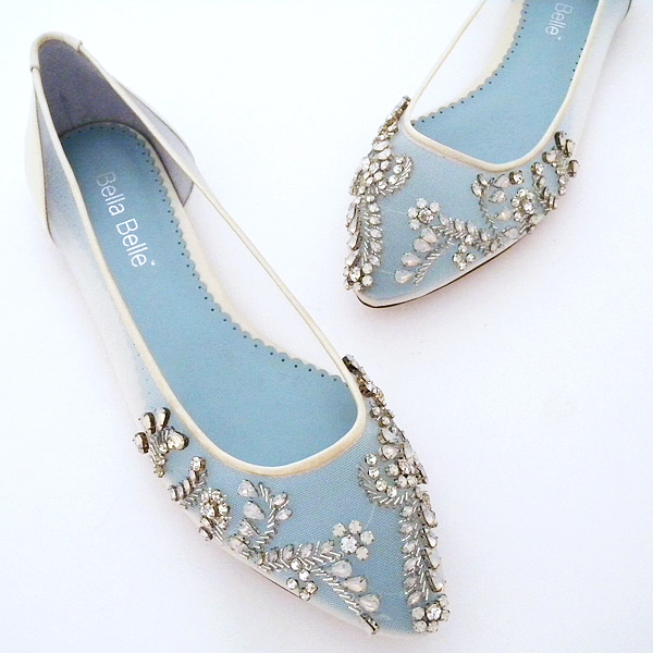 bc4e5f725 Bella Belle Willow Flat Wedding Shoes